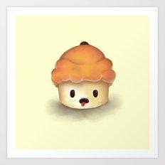 Carrot Cupcake Art Print
