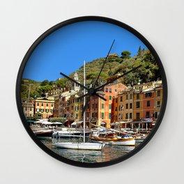 Colorful Fishing Village Wall Clock