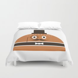 Monsieur Burger Duvet Cover