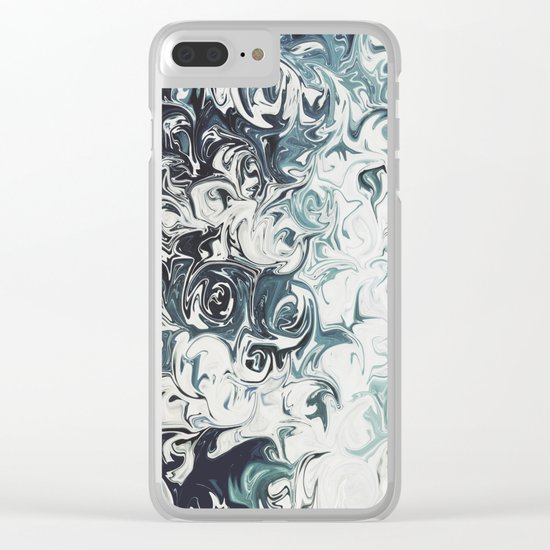 Abstract 137 Clear iPhone Case