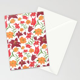 The Lilies in Red Stationery Cards