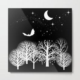 Moonlight Forest Metal Print