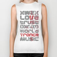 springsteen Biker Tanks featuring Trust in Trance Music by Sitchko Igor