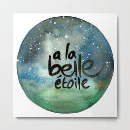 "French Quote Art ""A la belle etoile"" Metal Print"