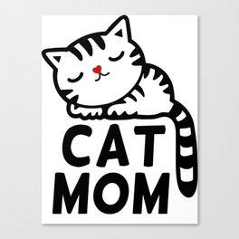 Cat Mom Canvas Print
