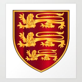 British Three Lions Crest Art Print