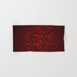 D20 Pattern - Red Black Gradient Hand & Bath Towel
