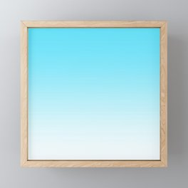 Sky Blue White Ombre Framed Mini Art Print