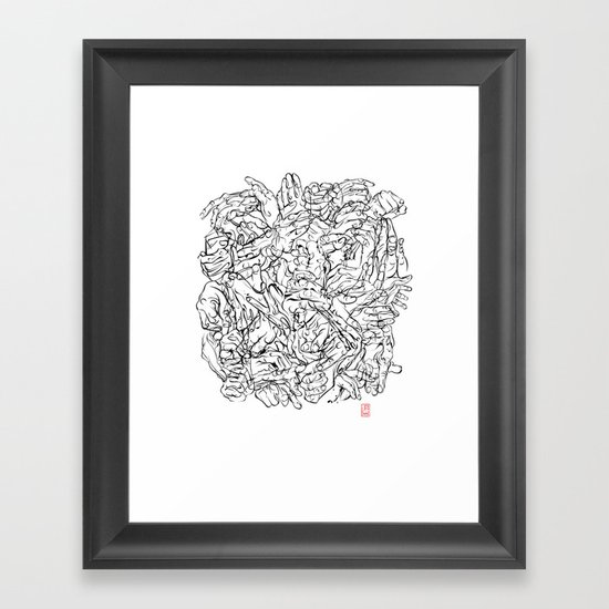 Gesticulibrary Framed Art Print