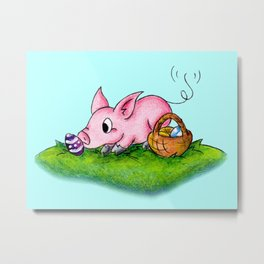 Egg Hunter Metal Print
