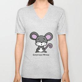 Surprised Mouse Unisex V-Neck
