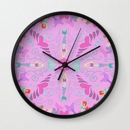 Mermaid-o pink Wall Clock