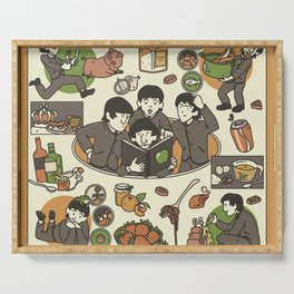 Fab Four Cookbook Serving Tray
