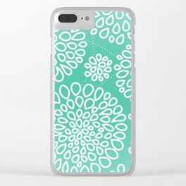 Peppermint Dandelions Clear iPhone Case