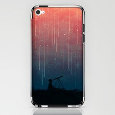 Meteor rain iPhone & iPod Skin