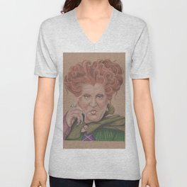 Winifred Sanderson, hocus pocus, Coloured pencil portrait Unisex V-Neck
