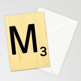 Scrabble M Decor, Scrabble Art, Large Scrabble Tile Initials Stationery Cards