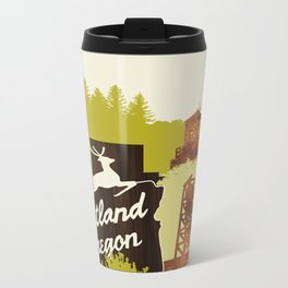Portland, Oregon Metal Travel Mug