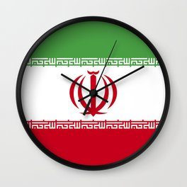 Iran flag emblem Wall Clock