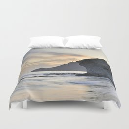 Looking at sunset. Duvet Cover