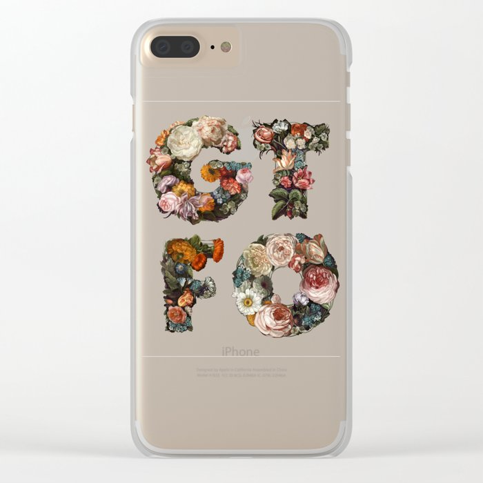 GTFO Clear iPhone Case