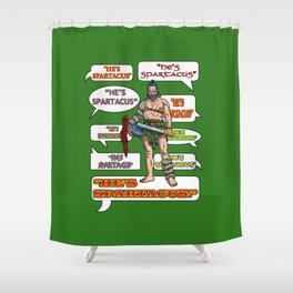 Gladiators and Soldiers of Rome. Shower Curtain