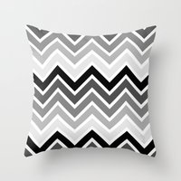 plain Throw Pillows featuring ZigZag - Plain by Emelie Turander