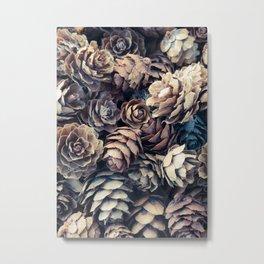 Tiny Pinecones Metal Print