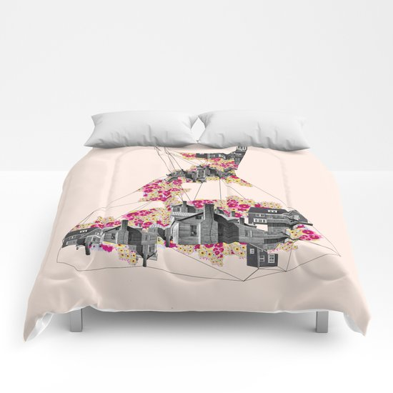 FILLED WITH CITY II Comforters