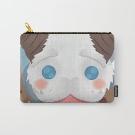 Poro with Mustache on a Poro-Snax Carry-All Pouch