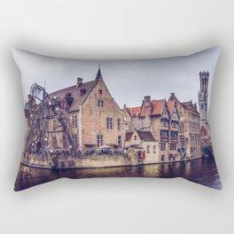 Brugge waterway Rectangular Pillow