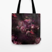 peony Tote Bags featuring peony by MINTSENSEART