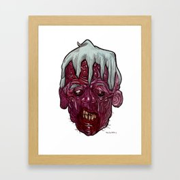 Heads of the Living Dead Zombies: Complexion Zombie Framed Art Print