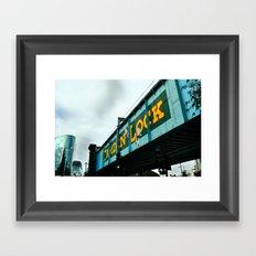 London Camden Town rail bridge Framed Art Print