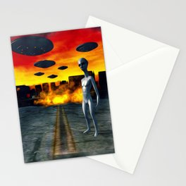Battlefield Earth - UFO Invasion Stationery Cards