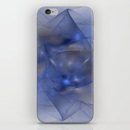 Folds in Blue N Gold iPhone Skin