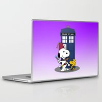 snoopy Laptop & iPad Skins featuring Snoopy Who by plasticdoughnut