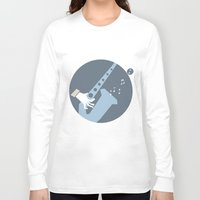 jazz Long Sleeve T-shirts featuring jazz by liva cabule