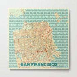 San Francisco Map Retro Metal Print