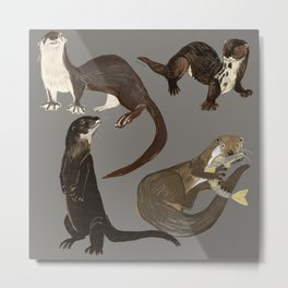 Old World otters Metal Print