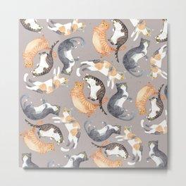 Catpattern 2 Metal Print