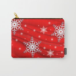 Abstract background with snowflakes Carry-All Pouch