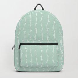 Willow Stripes - Sea Foam Green Backpack