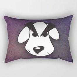Peeved Pup Rectangular Pillow