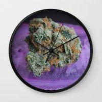 medical Wall Clocks featuring Jenny's Kush Medical Weed by BudProducts.us