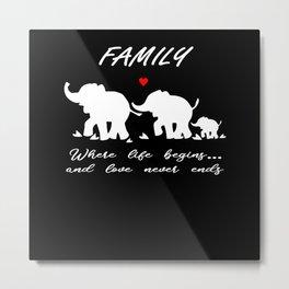 Elephant Family Gift Metal Print