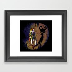 Link and the Imp Framed Art Print