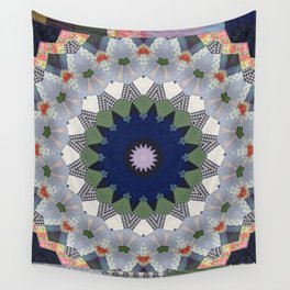 Patchwork Whimsy -- Vintage Block Quilt Mandala Kaleid0scope Wall Tapestry