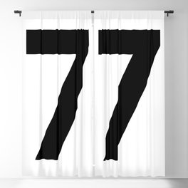 Number 7 (Black & White) Blackout Curtain