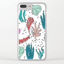 Leaf me alone 2 Clear iPhone Case